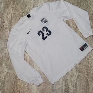 NIKE WOMENS LONG SLEEVE UNH SOCCER JERSEY SIZE M